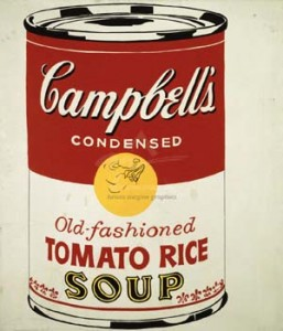"""Campbell's Soup Can"" by Andy Warhol"