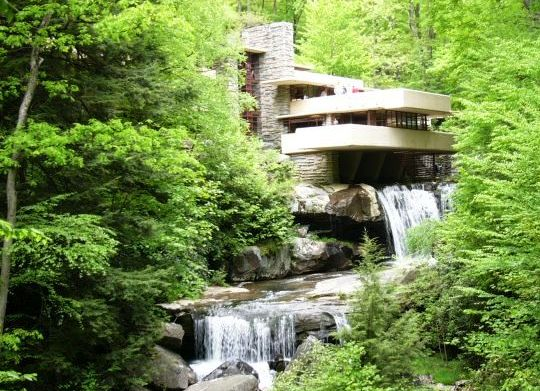 """Fallingwater"" by Frank Lloyd Wright"