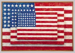 """Three Flags"" by Jasper Johns"