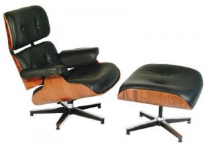 The Eames lounge chari and ottoman