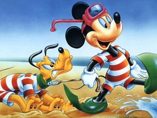 Walt Disney's Pluto and Mickey Mouse