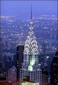 William Van Alen's Chrysler Building in New York City