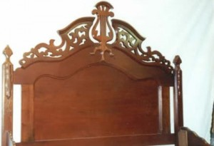 The same headboard after repairs.