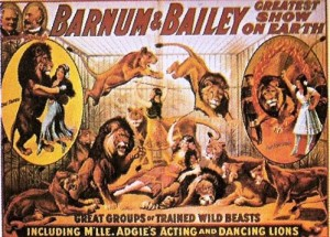 1915 – Barnum & Bailey; Great Groups of Trained Wild Beasts