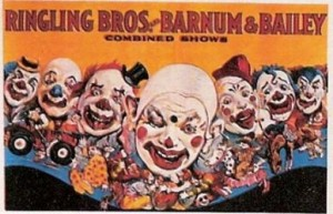 Ringling Bros. and Barnum & Bailey; Seven Clown Heads