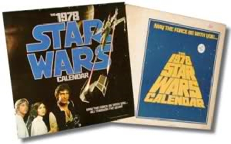 "The inaugural ""Star Wars"" calendar, 1978, with cardboard mailer"