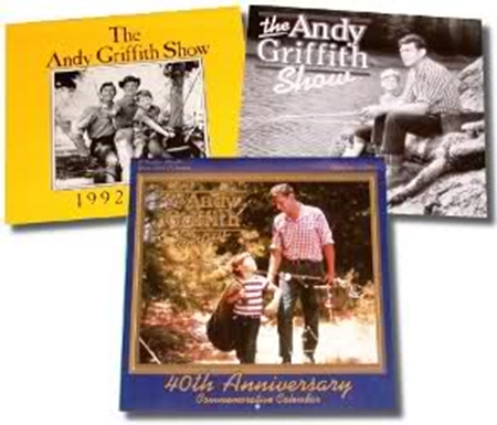 "A selection of ""The Andy Griffith Show"" calendars."