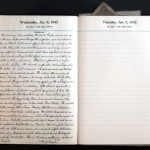 January 6, 1943 Diary Page  (click to enlarge)