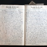 January 21, 1943 Diary Page   (click to enlarge)