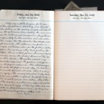 January 22, 1943 Diary Page  (click to enlarge)