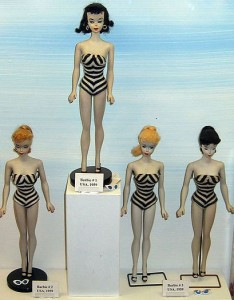1959 Barbies on exhibit in Prague