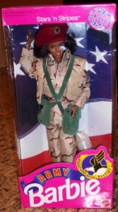 She's in the Army Barbie