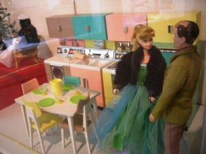 Early Barbie and Ken shown at a Washington state museum