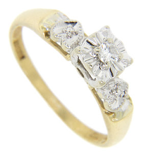 14K white-gold engagement ring