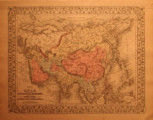 1882 Mitchell map of Asia