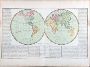 1769 Clouet world map