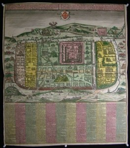 Rare 1740 map of Jerusalem