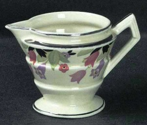 A creamer in a pattern that was supposedly the same pattern used on the Titanic.