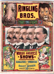 An early Ringling Bros. program.