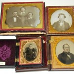 Four of the nine ambrotype and daguerreotype images pertaining to James A. Garfield that brought $21,470, highlighting the three-day Philip Weiss Auctions event on July 31-Aug. 2, 2009.