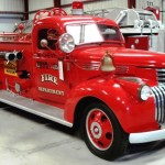 This 1941 Chevrolet Pirsch Pumper is among the 132 lots from the Kids Firehouse Museum of Largo, Fla., that will be sold at auction in a liquidation sale on Sept. 15, 2009