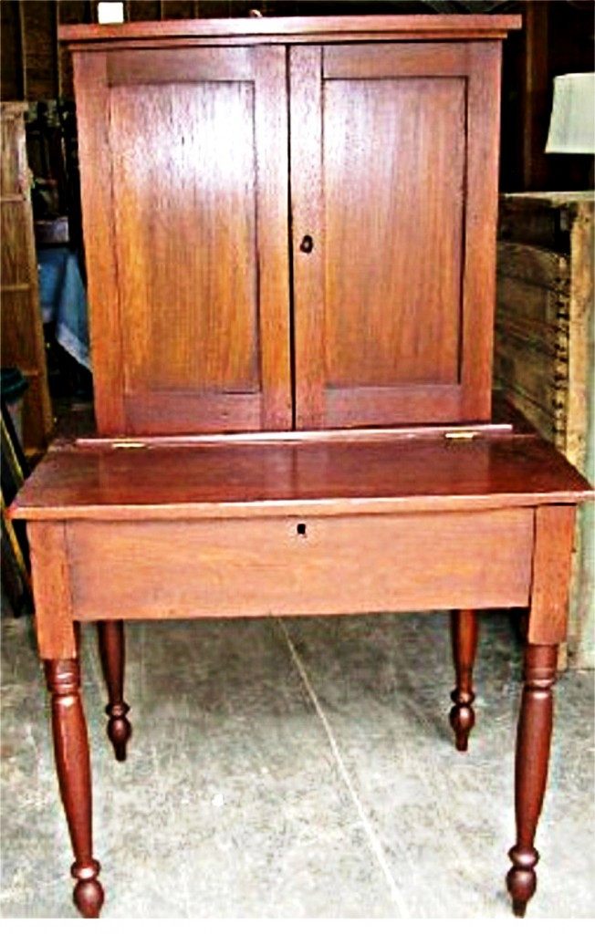 This plantation desk, in excellent condition, will be among the items to cross the block at an auction to be conducted by Jay & Wilma's Local Estates on Sept. 12, 2009.
