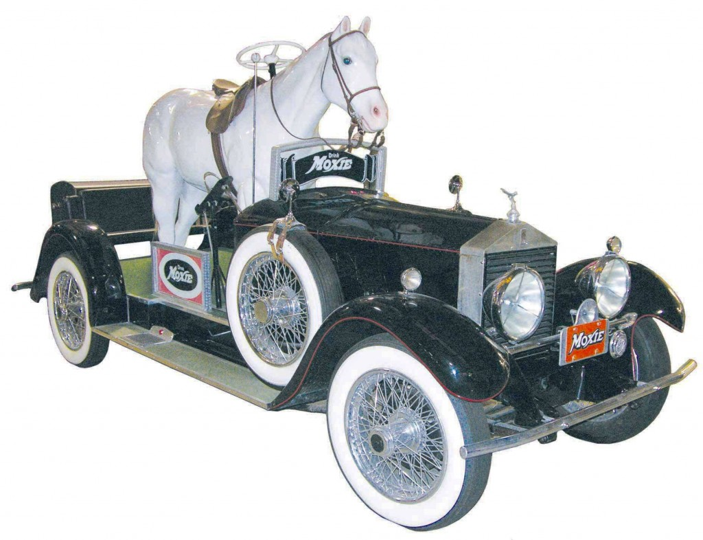A later replica of the famous Moxiemobile, an advertising vehicle that promoted the soft drink Moxie, will highlight the auction of the Ron Wallace collection.