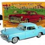 "This Linemar tin battery-operated remote-control 1956 Mark II Continental car—in the box—is ""is one of the rarest tin cars in the world,"" sayd Serious Toyz owner Tom Miano."