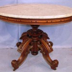 Walnut Victorian marble-top parlor table attributed to Thomas Brooks (circa 1860) is one of the many items from Southern estates that will be up for sale on Oct. 17 and Oct. 31 by Stevens Auction Company.