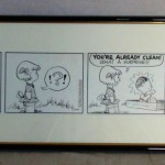 "The top lot at the most recent Philip Weiss auction was this original ""Peanuts"" comic strip from 1954 by Charles Schulz, which gaveled for $28,250."
