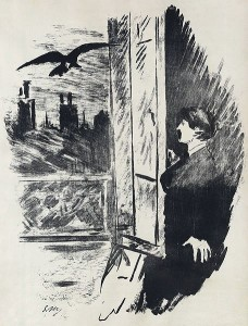 "Edouard Manet's interpretation of ""The Raven,"" 1875"