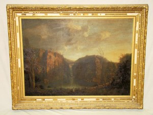 This large-size original oil painting attributed to Hudson River School artist Girlando Marsiglia will be sold in another Weiss auction, this one to be held on Nov. 27, 2009.