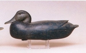 "This is a black duck decoy attributed to Robert Freirich from Tullytown Pa. It realized $2,250 at auction in 2001 due to condition and the ""it"" factor. Photo courtesy of Guyette and Schmidt."