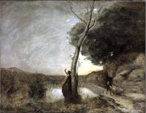 "L'Étoile du Berger (The Evening Star)"" by Corot."
