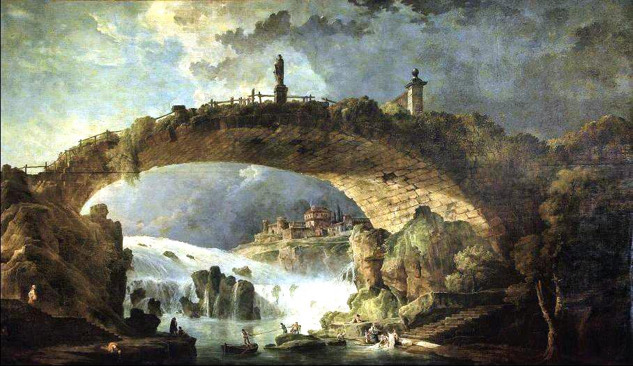 "Le pont sur le torrent"" by Hubert Roberts."