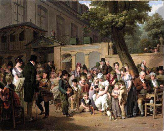 """The Entrance to the Turkish Garden Café"" by Boilly."
