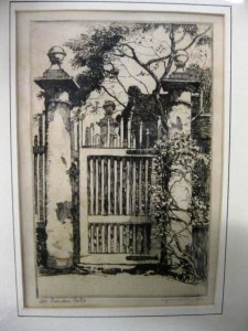 One of three etchings by the renowned Charleston artist Alfred Heber Hutty (N.Y./S.C., 1877-1954) up for auction.