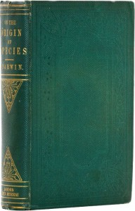 "a fine first edition copy of Darwin's ""Origin of Species,"" easily the most important biology book ever penned, estimated at $125,000 or more."