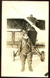 A pilot from an observation squadron stationed in Long Island, N.Y.