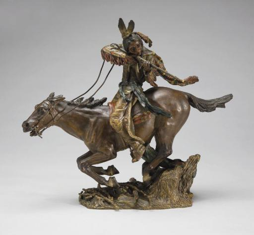 "Running Fire,"" a bronze by Austrian artist Carl Kauba (1865-1922), while not at the level of works by Remington or Russell, is still of value."