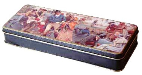 "An ""Oliver Twist"" biscuit tin made in the 1960s. Collectibles such as this one—connected to a story that is often made into several movies, plays or TV miniseries—may have several lives, as each revival builds new interest."
