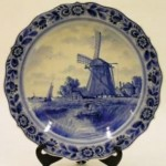 This Dutch Delft plate was made by PZH (Plateelbakkerij Zuid-Holland), which was founded in the town of Gouda in South-Holland (Zuid-Holland) in 1898.