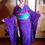 Taisho era purple furisode hikizuri