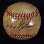 Jackie Robinson Single Signed Baseball