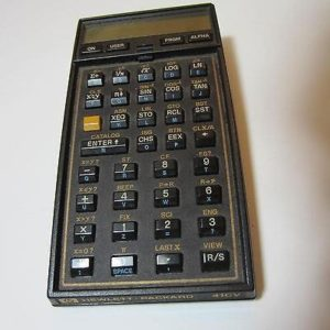 Hewlett Packard's hand-held HP-41CV calculator was made in the 1980s. This one isn't even working, but it still sold for $39 in November 2014.