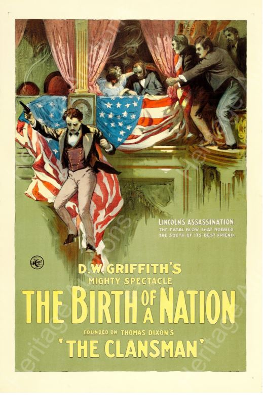 "This one sheet poster for D.W. Griffith's 1915 epic ""The Birth of a Nation"" sold for $74,687, more than three times expectations in Heritage Auctions' summer Vintage Movie Posters Auction."