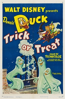 """Examples of this Donald Duck poster from the 1952 classic Disney short titled """"Trick or Treat"""" have sold for $3,000 or more at auction in recent years."""