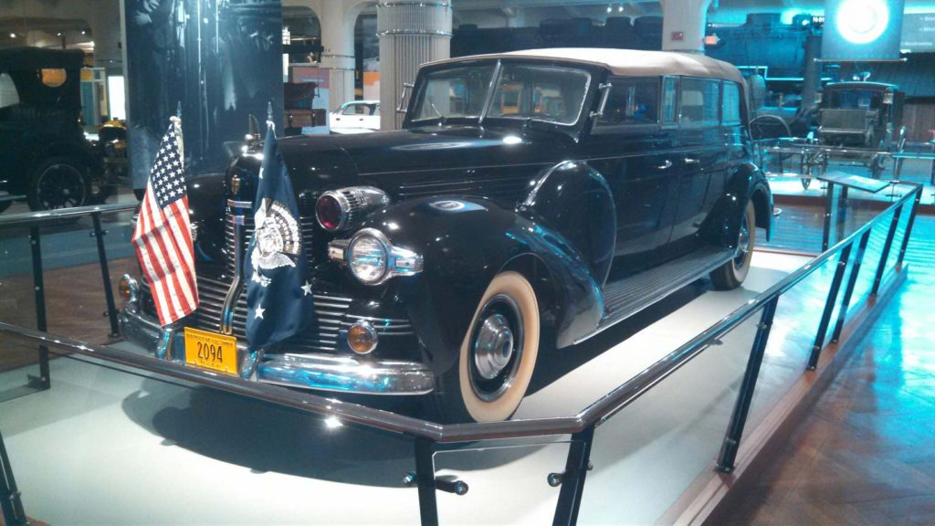 After Worthologist Tom Carrier pointed out to the Henry Ford Museum that the presidential flag affixed to the Sunshine Special, the White House limousine of Franklin D. Roosevelt, was of the wrong vintage, it was corrected, and the display now has the right flag. Who but a vexillologist would know?