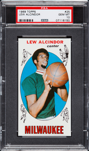 1969 Topps Lew Alcindor RC - PSA Gem Mint 10: $501,900, Heritage Auctions, August, 2016