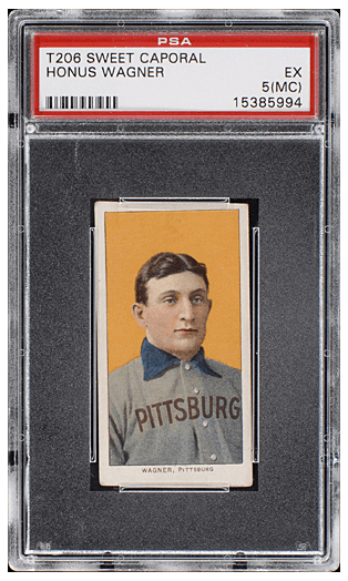 1909-11 T206 Honus Wagner - PSA 5 EX (MC): $3,120,000, Goldin Auctions, October, 2016